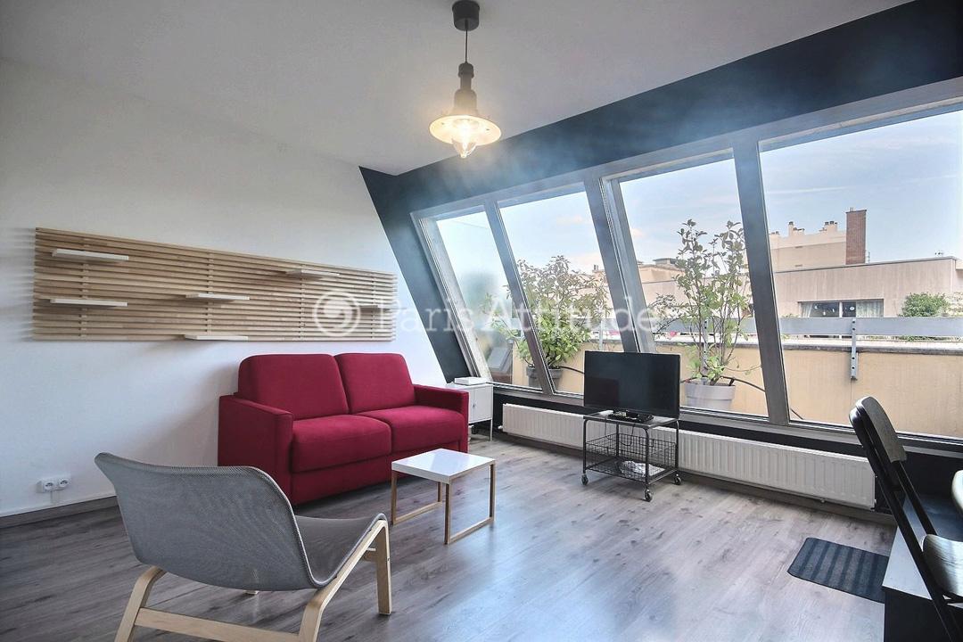 Rent Apartment in Paris 75020 - Furnished - 25m² Gambetta