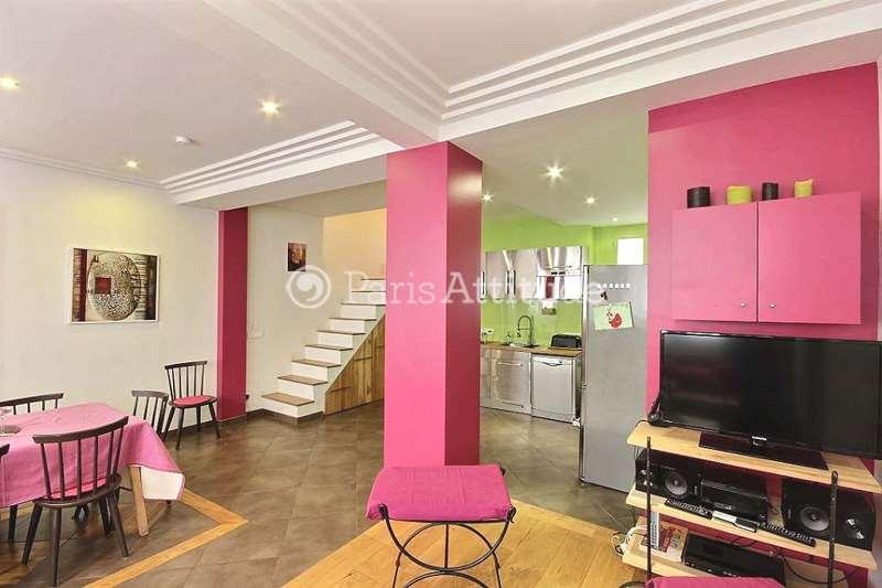 Rent Duplex in Paris 75018 - 80m² Guy Moquet - ref 9493