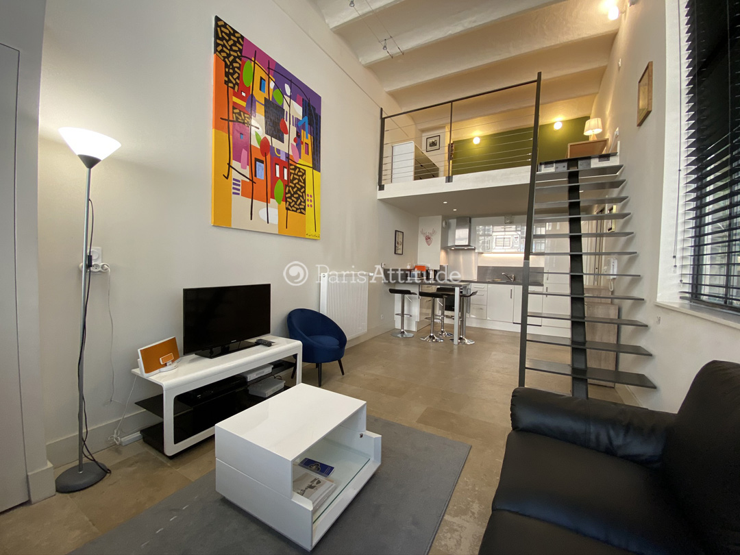 Louer un loft paris 75003 38m le marais ref 10849 for Salon 3m de large