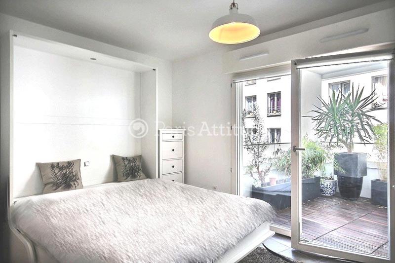 Louer un appartement paris 75019 27m buttes chaumont for Appartement atypique 75019