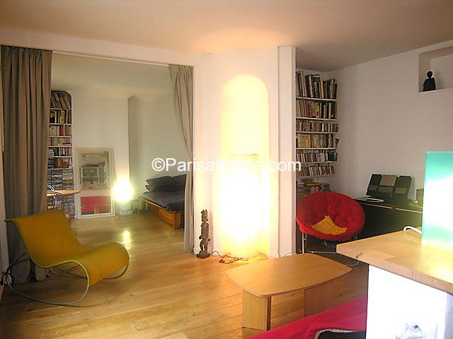 Rent apartment in paris 75020 40m menilmontant ref 4309 for Living room 75020