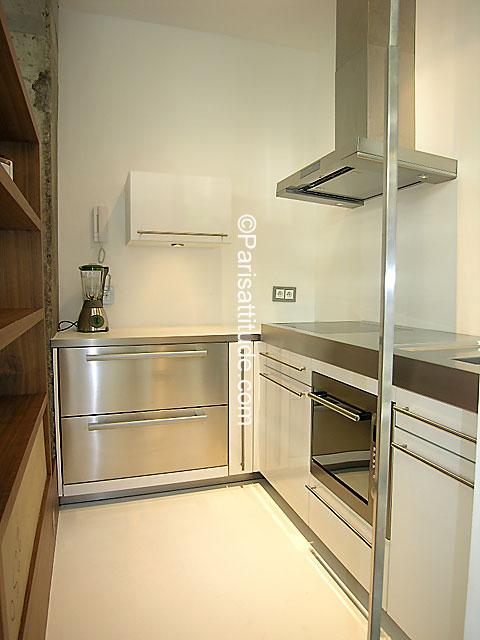 Alugar um apartamento em paris 75020 35m gambetta ref for Straight line kitchen designs