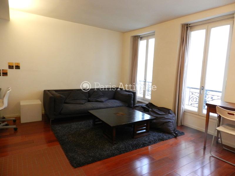 Louer un appartement paris 75019 41m buttes chaumont for Appartement atypique 75019