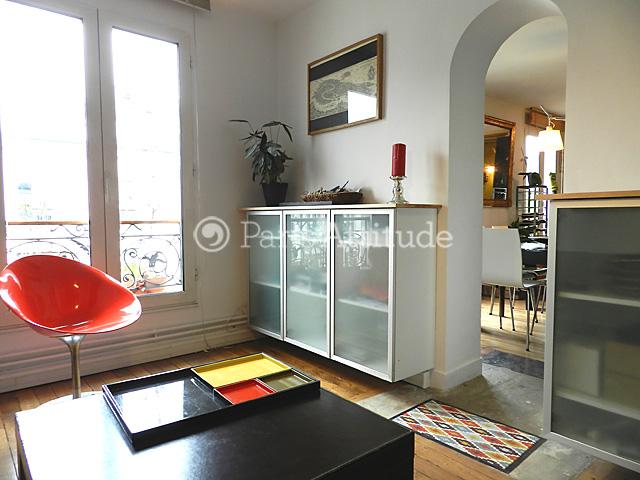 Rent apartment in paris 75020 100m belleville buttes for Living room 75020