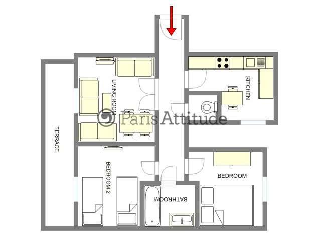 Louer un appartement paris 75015 80m la motte picquet grenelle ref 1132 - Location appartement meuble paris 15 ...