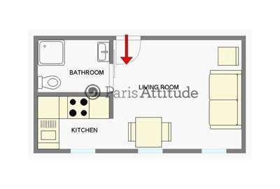 Rent apartment in paris 75017 24m porte maillot palais - Plan de salle palais des congres porte maillot ...