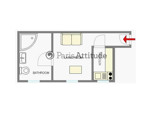 Rent apartment in paris 75017 18m porte maillot palais - Plan de salle palais des congres porte maillot ...