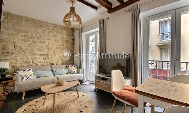 Rent Apartment 1 Bedroom 31m² rue du Pas de la Mule, 75004 Paris
