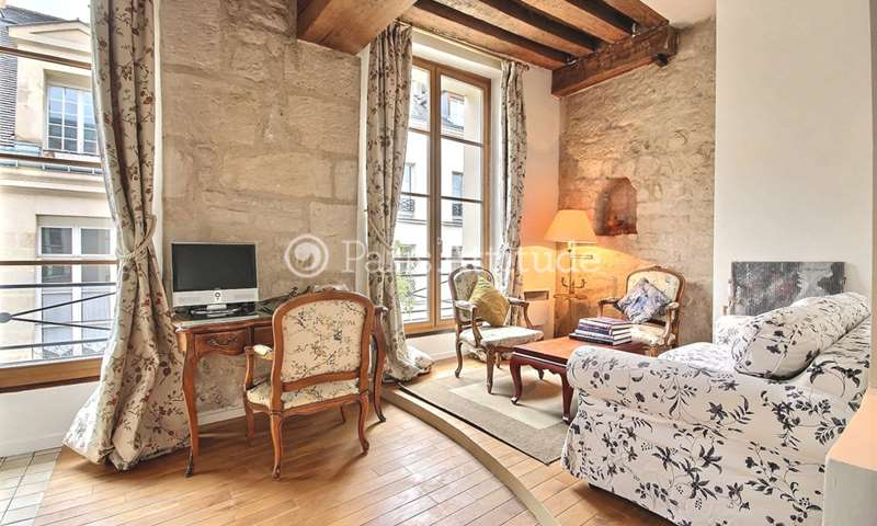 Location Appartement Alcove Studio 40m² rue Saint Louis en l Île, 4 Paris