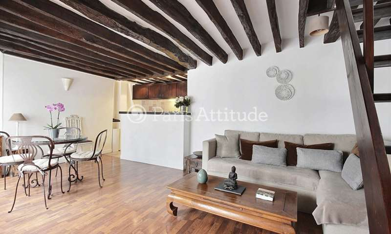 Rent Duplex 1 Bedroom 50m² rue Montmartre, 1 Paris