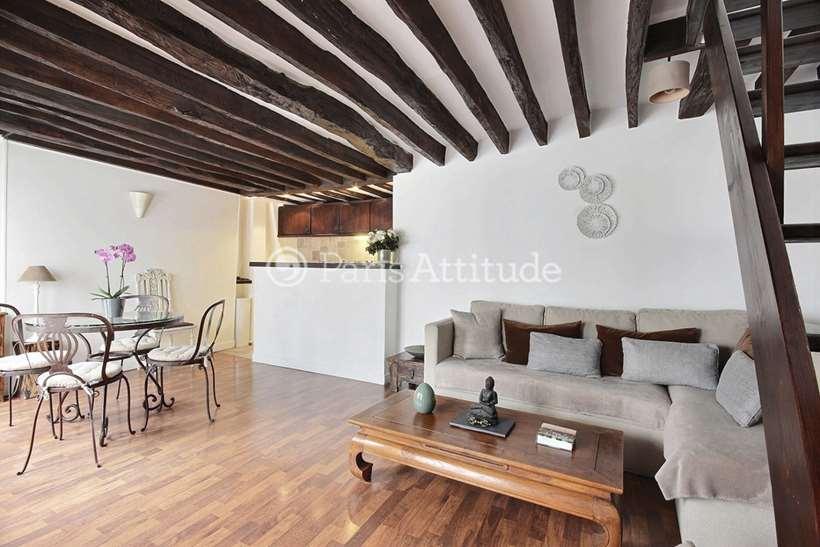 Rent furnished Duplex 1 Bedroom 50m² rue Montmartre, 75001 Paris