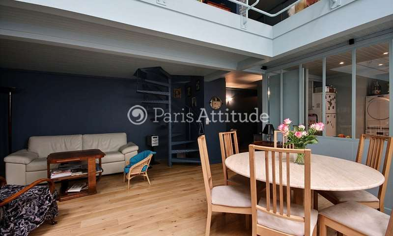 Rent Duplex 2 Bedrooms 75m² rue de la Grande Chaumiere, 6 Paris
