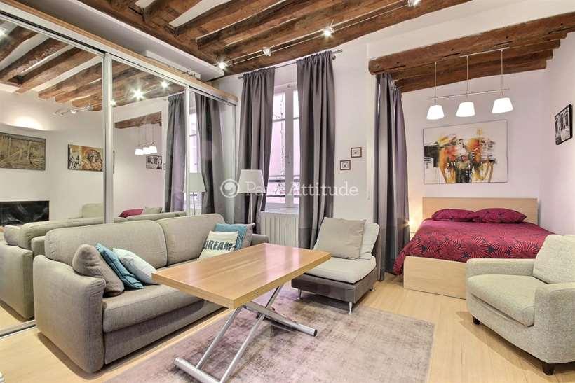 Rent furnished Apartment Alcove Studio 26m² rue d Argout, 75002 Paris