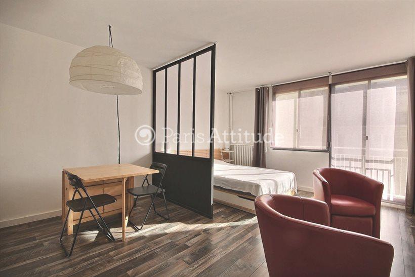 Rent furnished Apartment Studio 28m² rue Robert Turquan, 75016 Paris