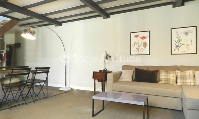 Rent Duplex 1 Bedroom 65m² rue Lecourbe, 15 Paris