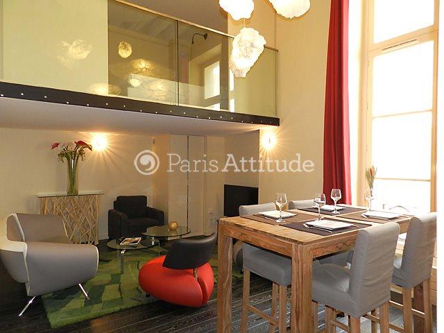 Rent furnished Apartment 2 Bedrooms 70m² rue Greneta, 75002 Paris