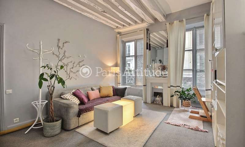 Rent Apartment 1 Bedroom 40m² rue Beranger, 75003 Paris