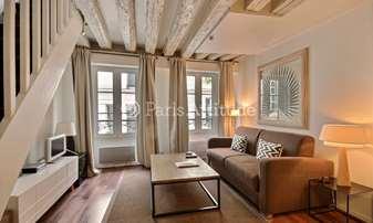 Rent Duplex 1 Bedroom 44m² rue du Bourg Tibourg, 4 Paris