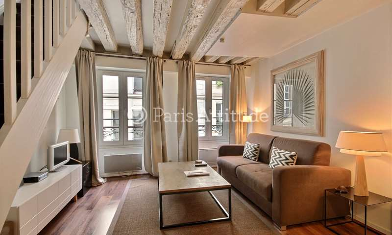 Rent Duplex 1 Bedroom 44m² rue du Bourg Tibourg, 75004 Paris