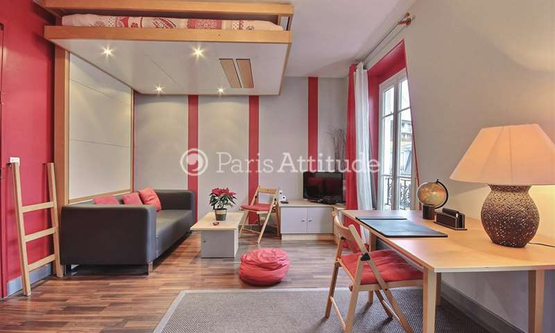 Rent Apartment Studio 26m² rue de l Amiral Roussin, 15 Paris