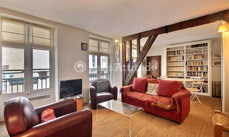Rent Duplex 1 Bedroom 80m² rue des Vertus, 3 Paris