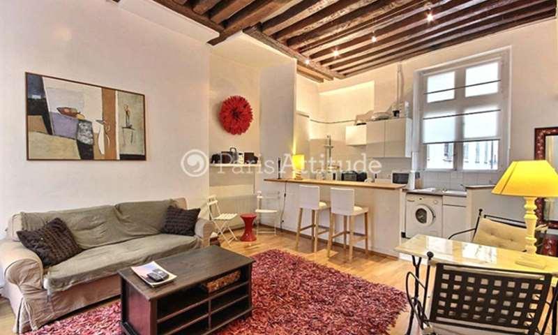 Rent Apartment 1 Bedroom 47m² rue des Fontaines du Temple, 75003 Paris