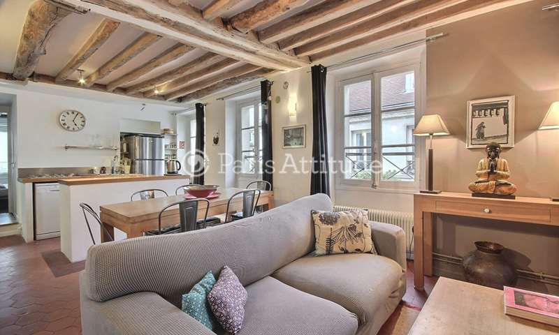 Rent Apartment 1 Bedroom 44m² rue charles francois Dupuis, 75003 Paris