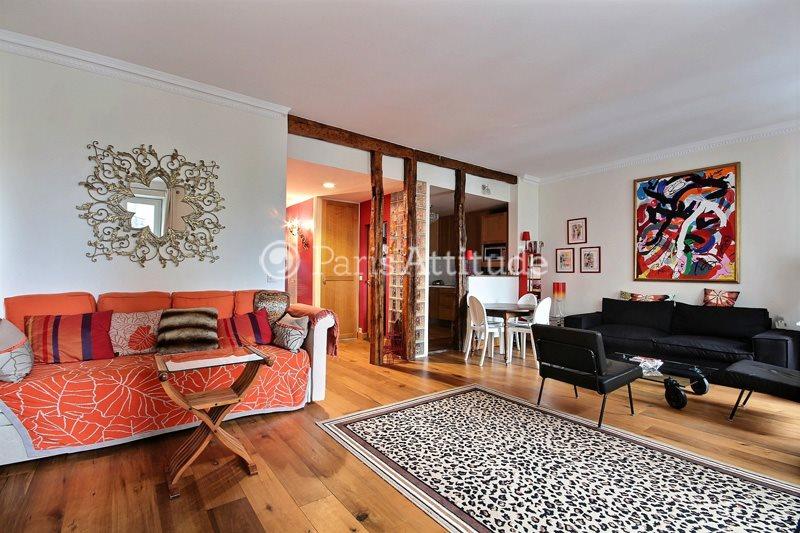 Rent furnished Apartment 2 Bedrooms 90m² rue de la Tour, 75016 Paris