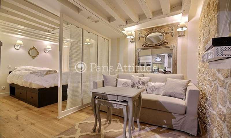 Rent Apartment Alcove Studio 23m² rue Saint Antoine, 4 Paris