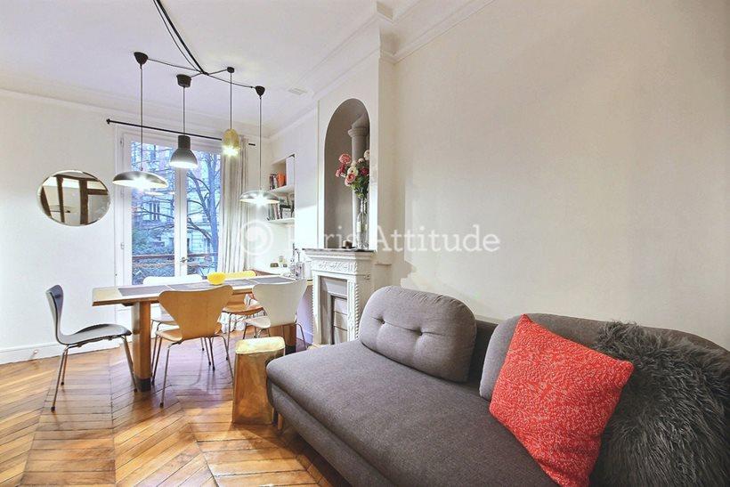 Rent furnished Apartment 2 Bedrooms 35m² rue Muller, 75018 Paris