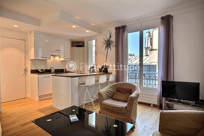 Rent furnished Apartment 2 Bedrooms 47m² rue Veron, 75018 Paris