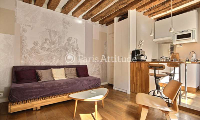 Rent Apartment Studio 20m² rue Dussoubs, 2 Paris