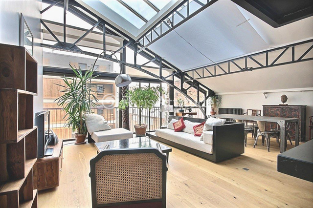Louer un duplex paris 75020 85m belleville ref 11685 - Appartement en duplex abraham architects ...