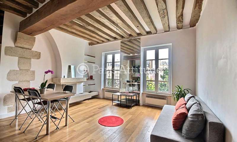 Rent Apartment 1 Bedroom 43m² rue Saint Julien Le Pauvre, 75005 Paris