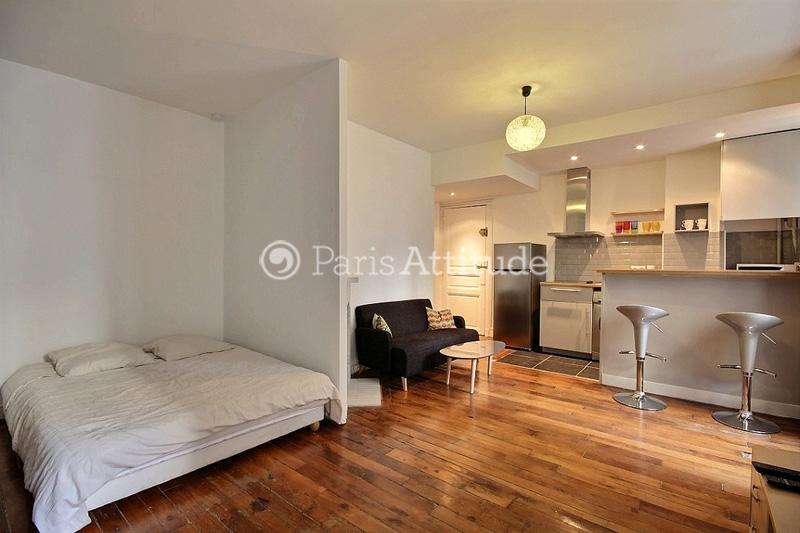 Rent apartment in paris 75018 26m montmartre ref 11708 for Alcove studio