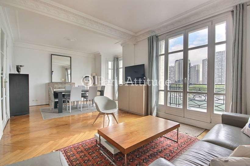 Rent furnished Apartment 2 Bedrooms 81m² quai Louis Bleriot, 75016 Paris