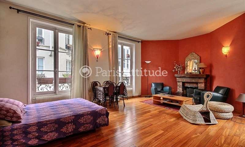 Location Appartement Studio 45m² rue Custine, 18 Paris