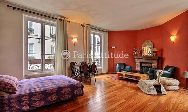 Rent Apartment Studio 45m² rue Custine, 75018 Paris