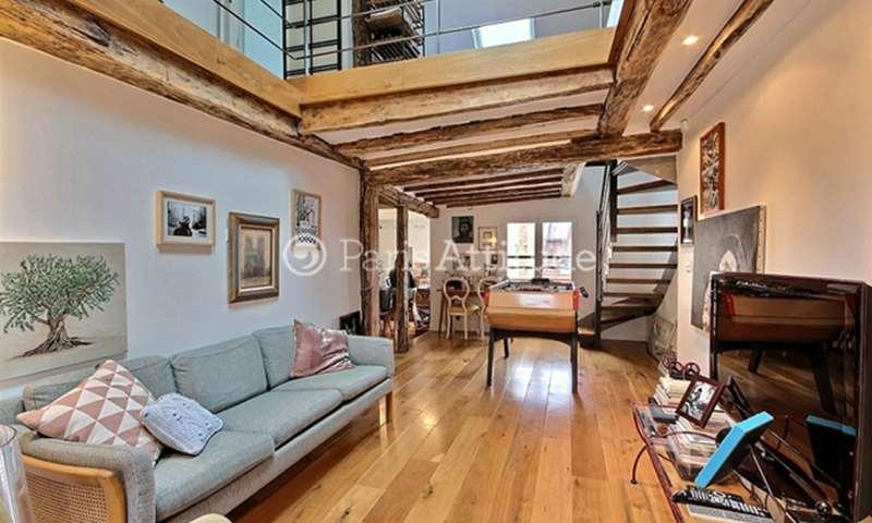 Rent Duplex 2 Bedrooms 70m² rue du Mont Thabor, 1 Paris