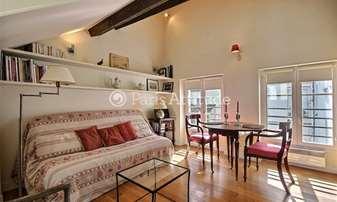 Location Appartement Alcove Studio 28m² rue des Francs Bourgeois, 4 Paris