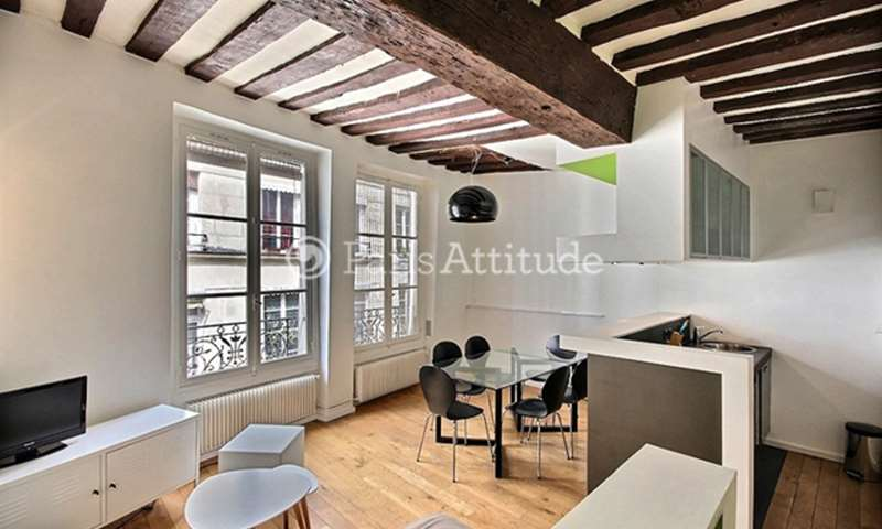 Rent Apartment 1 Bedroom 40m² rue Tiquetonne, 75002 Paris