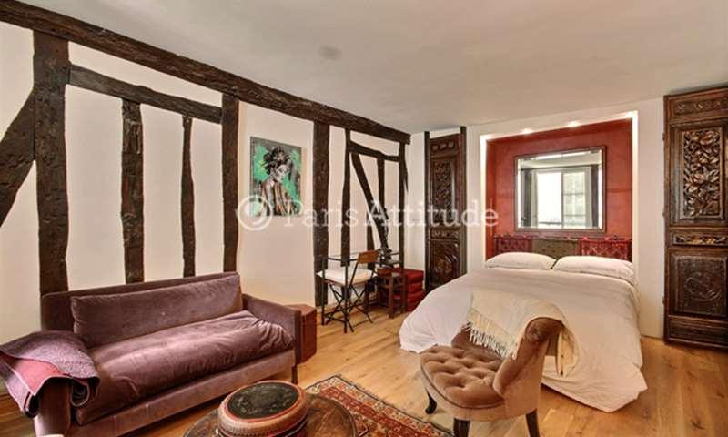 Location Appartement Studio 35m² rue des Tournelles, 3 Paris