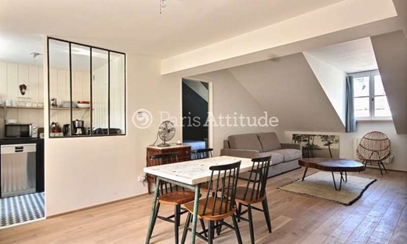 Rent Apartment 1 Bedroom 53m² rue Michel Le Comte, 75003 Paris