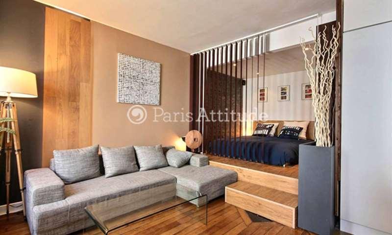 Rent Apartment Alcove Studio 32m² rue des Grands Champs, 20 Paris