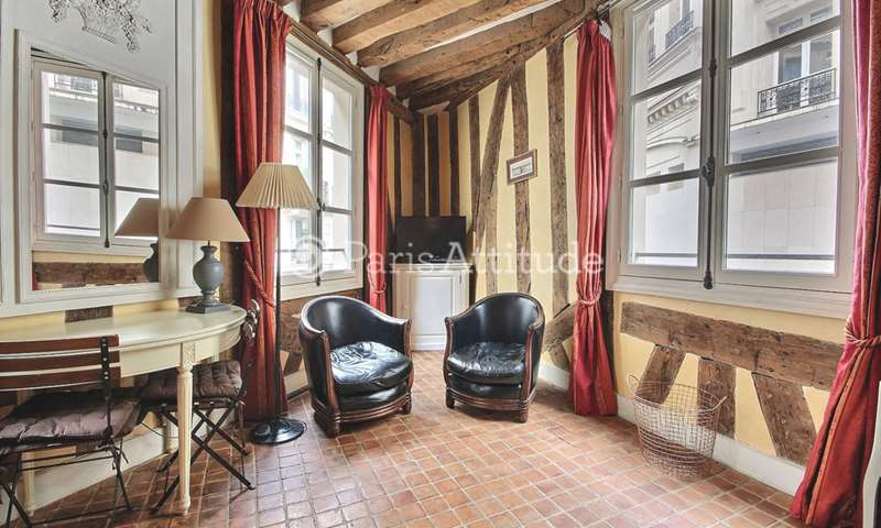 Rent Apartment Studio 25m² rue Saint Roch, 75001 Paris