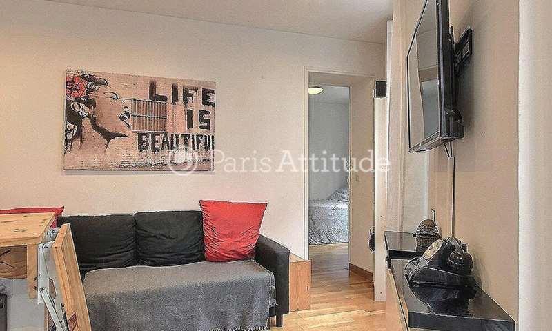 Rent Apartment 1 Bedroom 20m² rue Duhesme, 75018 Paris