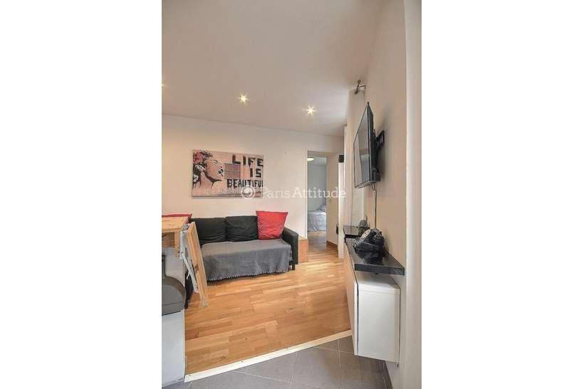 Rent furnished Apartment 1 Bedroom 20m² rue Duhesme, 75018 Paris