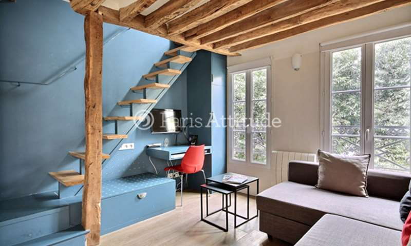 Rent Duplex 1 Bedroom 25m² rue de la Corderie, 3 Paris