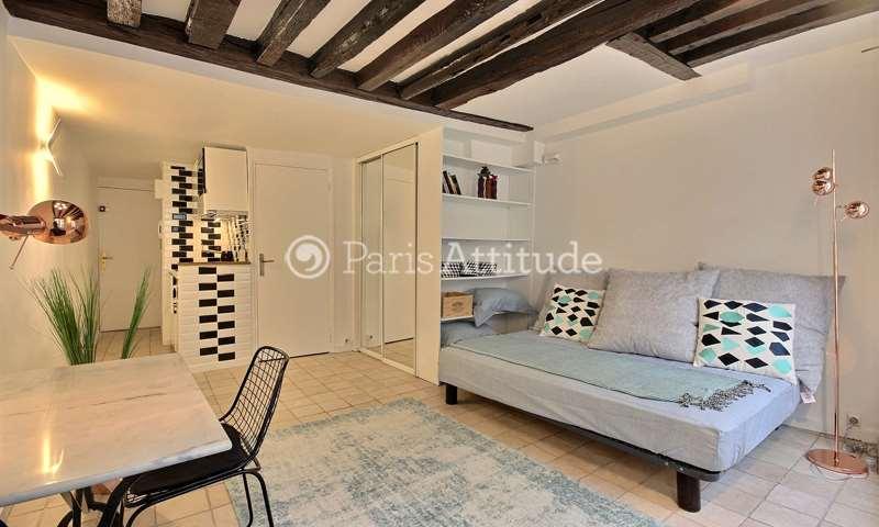 Rent Apartment Studio 22m² rue Geoffroy L Angevin, 4 Paris