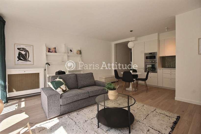 Rent furnished Apartment 2 Bedrooms 59m² rue Rennequin, 75017 Paris